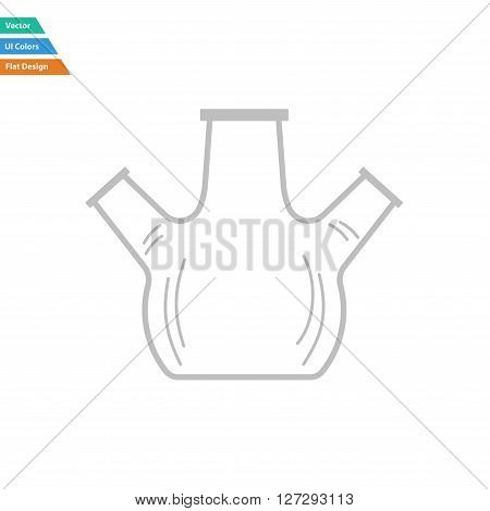 Flat Design Icon Of Chemistry Round Bottom Flask