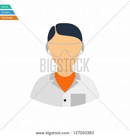Flat Design Icon Of Chemist In Eyewear