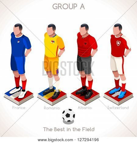 Championship Infographic Qualified Soccer Players GROUP A.