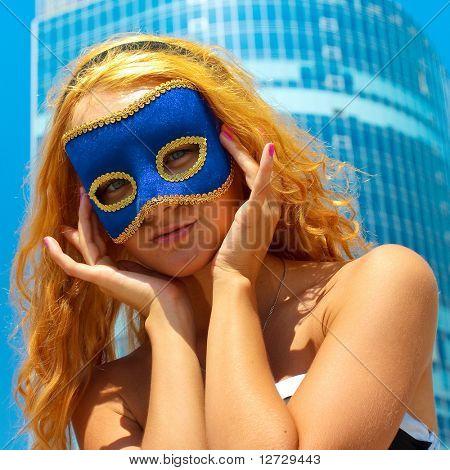 Mask Looking Closeup