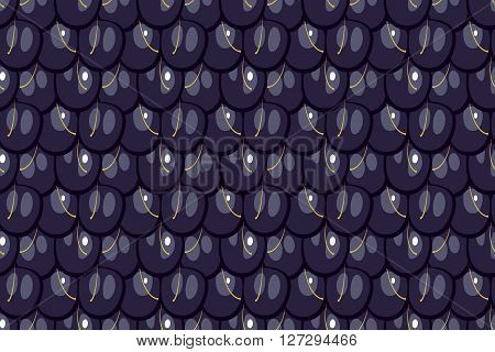 Seamless pattern blackberry texture vector illustration  flat design
