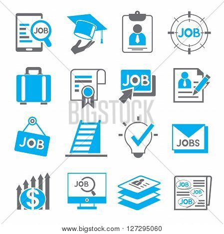 set of 16 job and recruitment icons