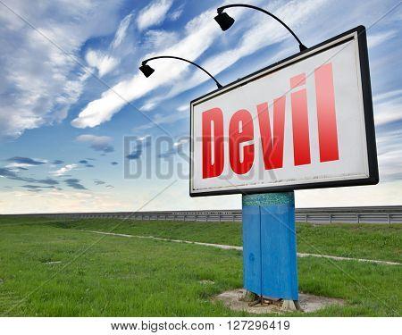 Devil evil satan burn in hell