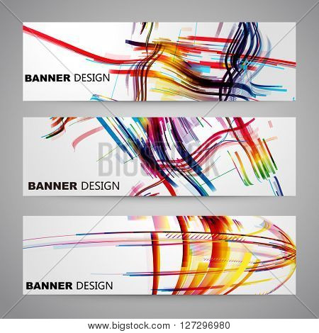 Set of colorful Flyer, Brochure Design Templates.