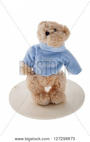 A Chanukah bear against a white background