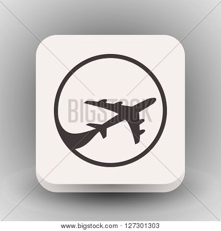 Pictograph of airplane. Vector concept illustration for design. Eps 10