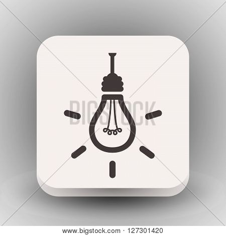 Pictograph of light bulb. Vector concept illustration for design. Eps 10