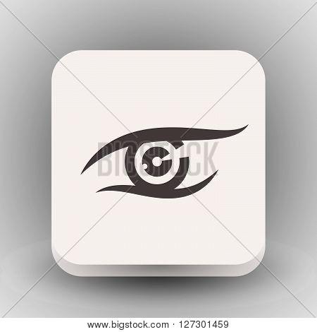 Pictograph of eye. Vector concept illustration for design. Eps 10
