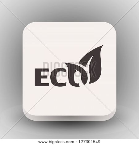 Pictograph of eco. Vector concept illustration for design. Eps 10