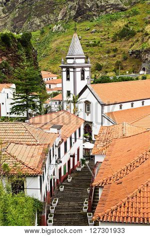 View of Church in Saint Vincent MadeiraPortugal