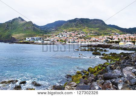 View of town of Canical in Madeira Portugal