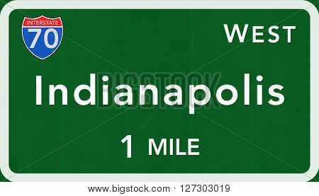 Indianapolis Usa Interstate Highway Sign