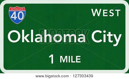 Oklahoma City Usa Interstate Highway Sign