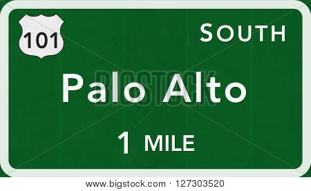 Palo Alto Usa Interstate Highway Sign