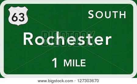 Rochester Usa Interstate Highway Sign
