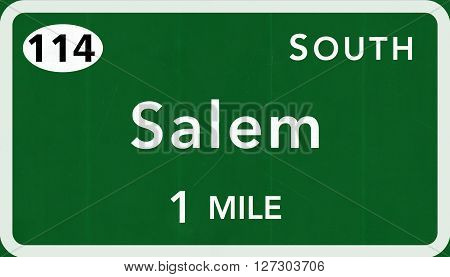 Salem Usa Interstate Highway Sign