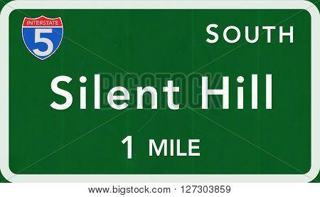 Silent Hill Usa Interstate Highway Sign