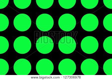 Illustration of a black background with neon green dots