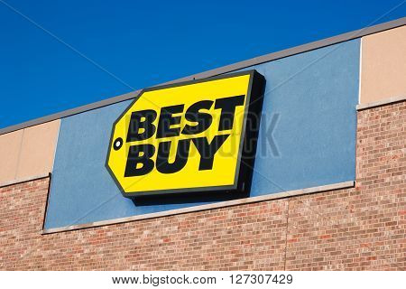 DARTMOUTH CANADA - APRIL 25 2016: Best Buy is an American owned retail electronics company. Best Buy has stores in the United States Canada Mexico Puerto Rico and China.