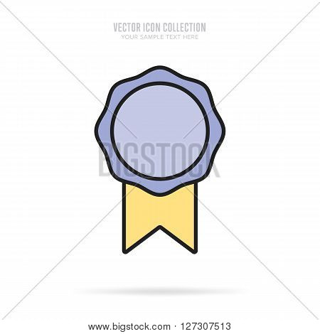 Flat vector badge. Modern design badge. Abstract badge template. Retail badge. New badge. Business badge. Web sticker. Blank badge. Isolated modern badge. Badge set. Colorful modern badge. Ribbon badge. Badge icon. Advertisement badge. Blank modern label.