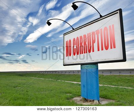 no corruption fraud and bribery political or police can be corrupt