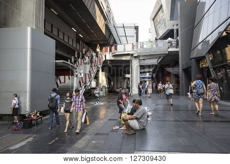 BANGKOK THAILAND - mar 5 : unidentified thai people at siam square shopping street on march 5 2016 thailand. siam square is famous shopping place of Bangkok