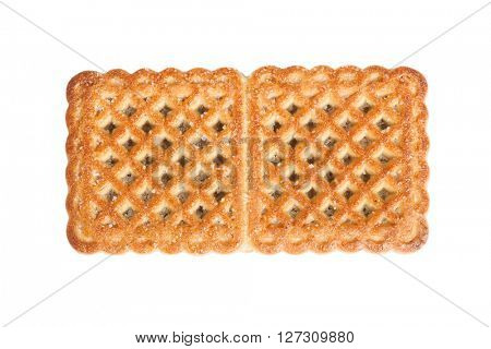 Single cookie isolated on white background
