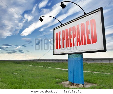 Be prepared and ready before the big change. Are you ready, it is time to plan ahead and in advance.