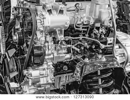 Auto Truck Engine Without Body
