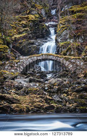 The Roman Bridge in Glen Lyon Scotland