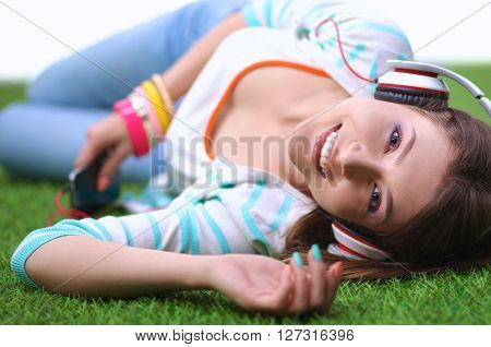 Woman listening to the music