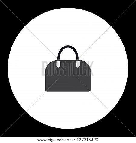 Simple Ladies Handbag Isolated Black Icon Eps10