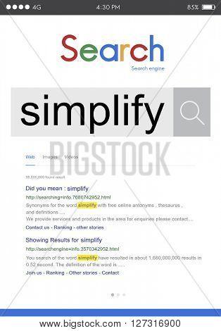 Simplify Clarify Easy Simple Concept