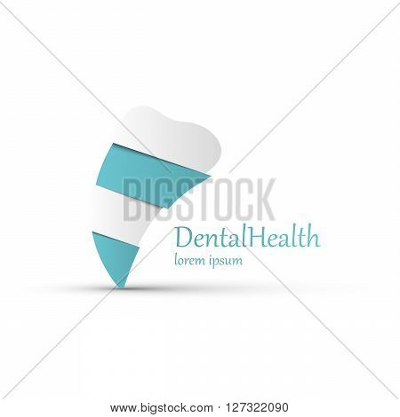 Tooth Icon vector logo template. Health medical or doctor and dentist office symbols. Oral care dental dentist office tooth health tooth care clinic. Tooth logo. Tooth icon.