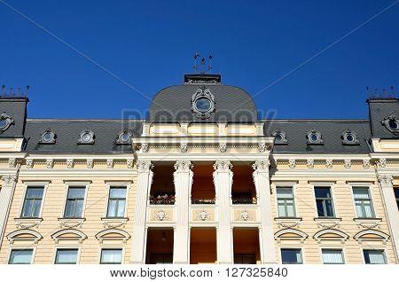 Old historical 19 century building in Riga, Latvia