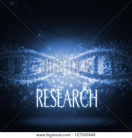 3D render of a medical background with DNA strands