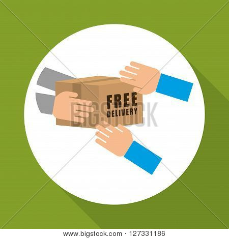 Free Delivey concept with icon design, vector illustration 10 eps graphic.