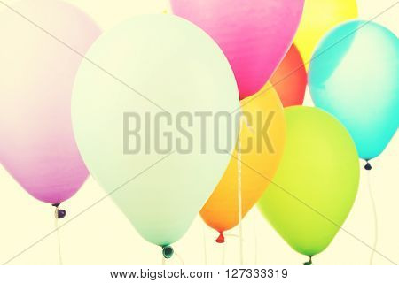 Colorful balloons clothe-up. Retro style