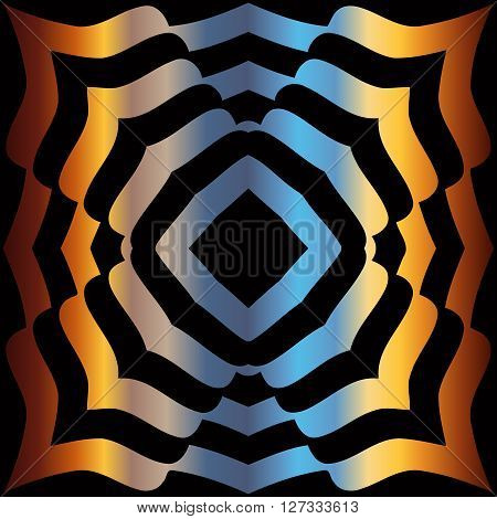 abstract texture pattern of spiral lines on the background color spectral gradient