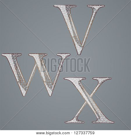 Set with abstract letters. Illustration 10 version