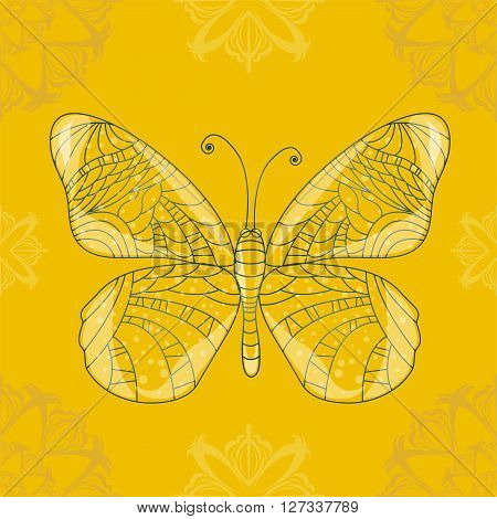 Seamless background with butterfly. Illustration 10 version