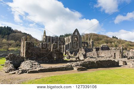 Tintern Abbey Monmouthshire near Chepstow Wales UK ruins of Cistercian monastery popular tourist destination