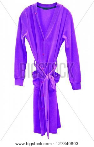bathrobe under the white background