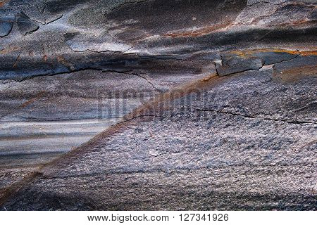Surface of mineral - iron containing ore