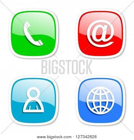 communication internet icons set