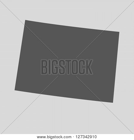 Black map of the State of Colorado- vector illustration. Simple flat map State of Colorado.