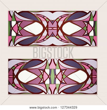 Colorful gift cards on gray background. Illustration 10 version