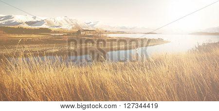 Mountain River Suburb Rural Remote Solitude Concept