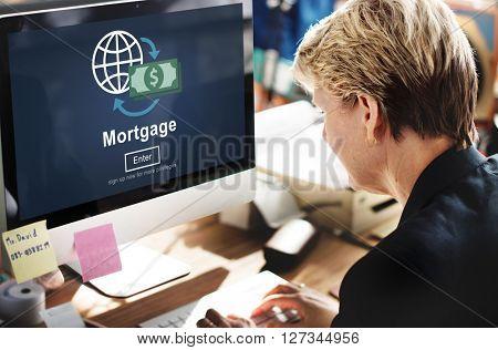 Mortgage Payment Debt Finance Online Concept