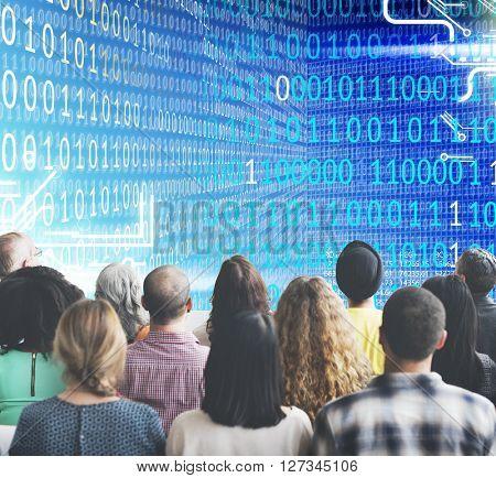 Binary Code Graphics Computer Program Concept